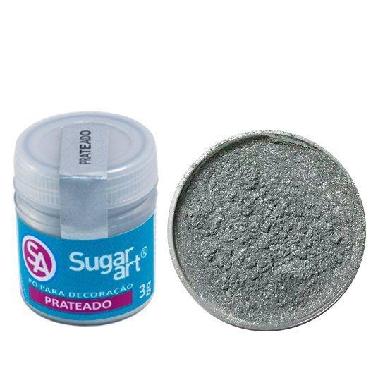 Pó Sugar Art Decoração Prateado 3g
