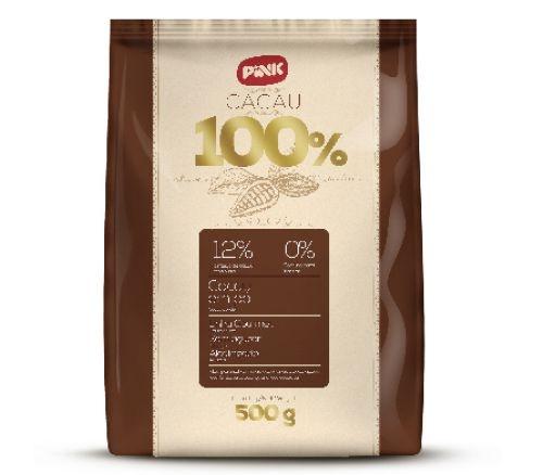 Chocolate em pó 100% Cacau Alnutri PINK 500g