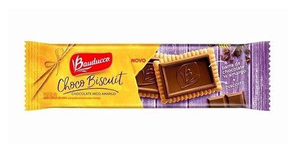 Chocco Biscuit Meio Amargo Bauducco 80g