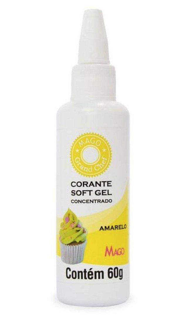 Corante Soft Gel Amarelo Mago 60g