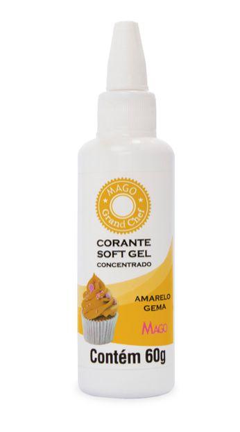 Corante Soft Gel Amarelo Gema Mago 60g