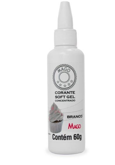 Corante Soft Gel Branco Mago 60g