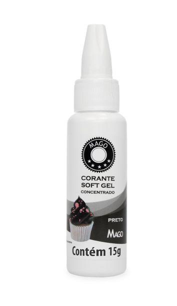 Corante Soft Gel Preto Mago 15g