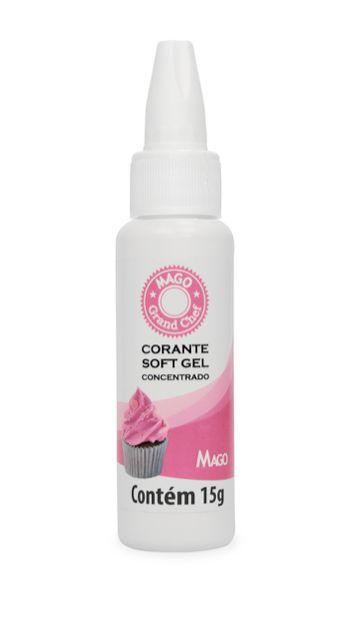 Corante Soft Gel Rosa Bebe Mago 15g
