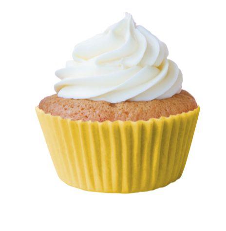 Forminha Cupcake Amarela Nº0 c/45 UNID.