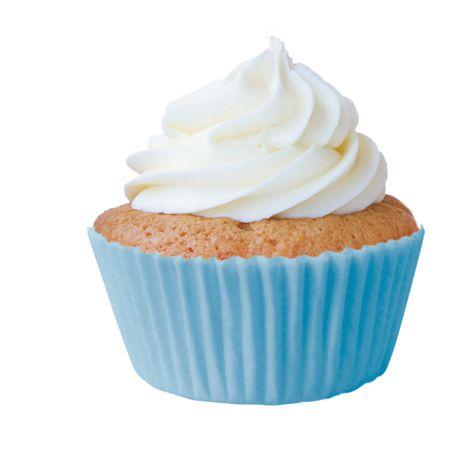 Forminha Cupcake Azul Bebe Nº0 c/ 45 unid