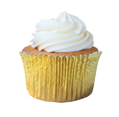 Forminha Cupcake Ouro Nº0 c/ 50 unid