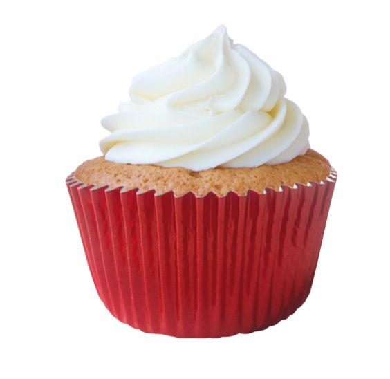 Forminha Cupcake Metalizada Vermelha Nº0 c/ 50 unid