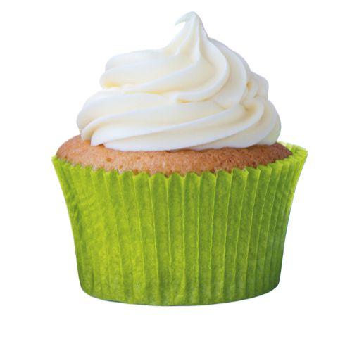 Forminha Cupcake Verde Limão Nº0 c/ 45 unid