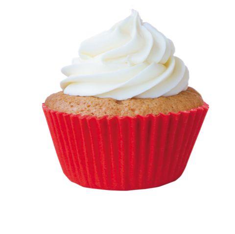 Forminha Cupcake Vermelha Nº0 c/ 45 unid