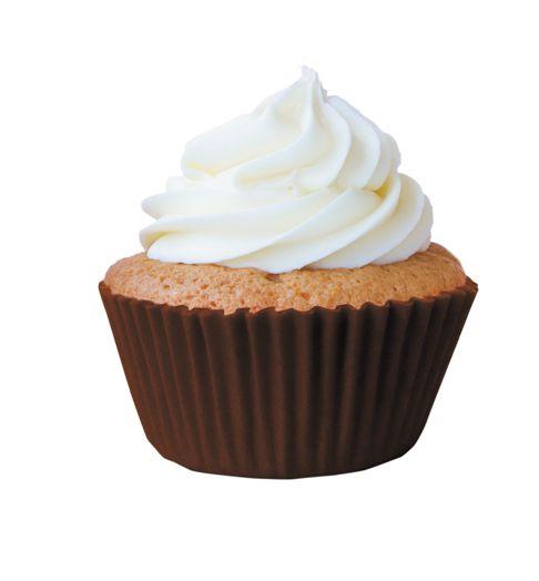 Forma Mini Cup Cake Marrom Nº 02 Mago c/ 45 unid