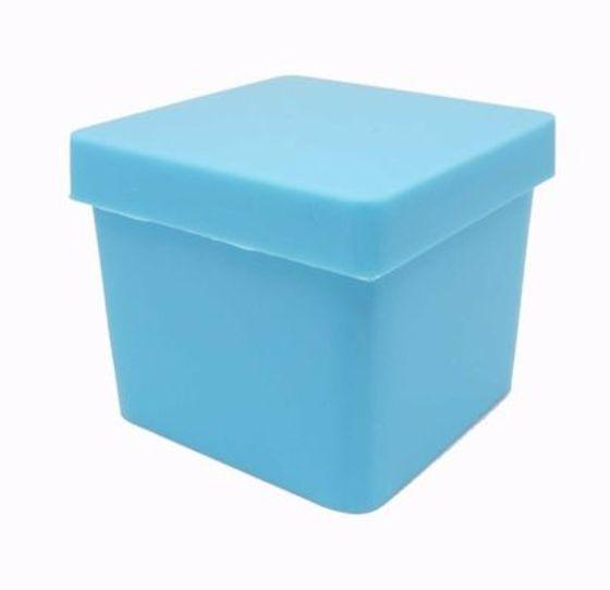Caixinha Azul Bebe Aquarela 4x4cm 10 unid