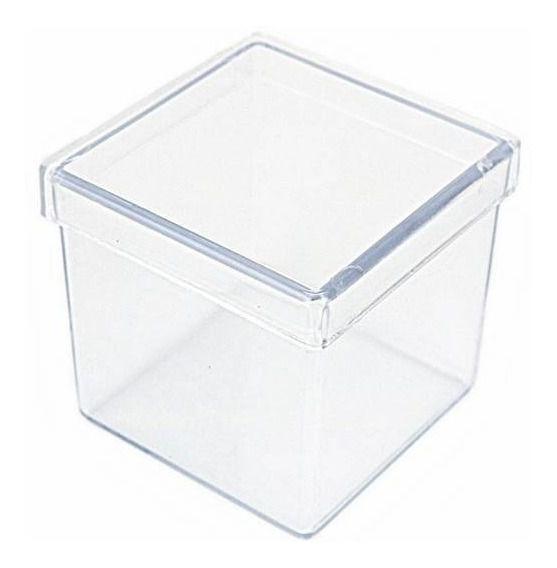Caixinha Transparente Aquarela 4x4cm 10 unid