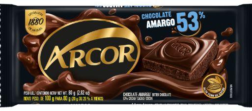 Chocolate Amargo 53% Arcor 80g