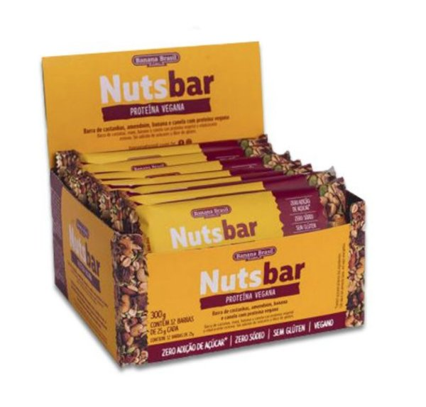 Nuts Bar Proteína Vegana 300g