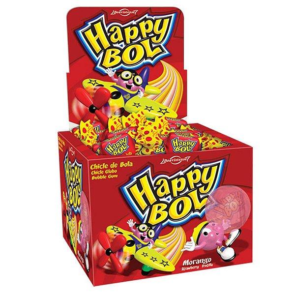 Chicle Happy Boll Morango - Boavistense 140g