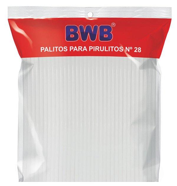 Palitos para Pirulito Médio Branco Nº28 c/50 unid