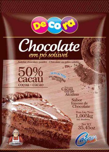 Chocolate em Pó 50% Sem Lactose Cacau Foods 1,05 Kg