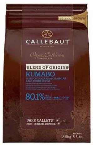 CALLEBAUT CHOC.AMARGO KUMADO 80.1% CALLEBAUT 2.5KG