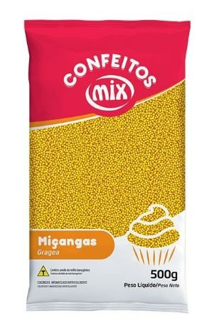 Confeito Miçangas Amarelo MIX 500g