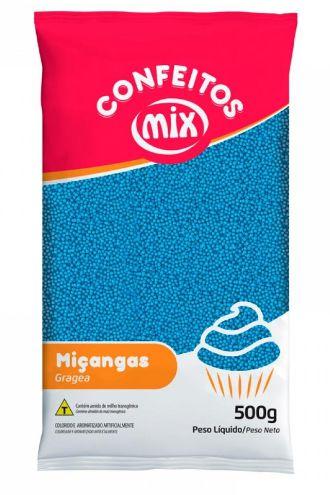 Confeito de Miçanga Azul MIX 500g