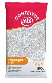 Confeito de Miçanga Branco MIX 500g