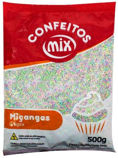 Confeito de Miçanga Candy Colors MIX 500g
