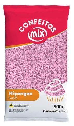 Confeito de Miçanga Rosa Bebê MIX 500g