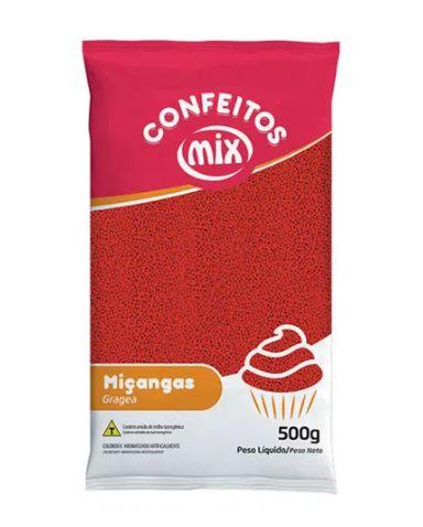 Confeito de Miçanga Vermelha MIX 500g