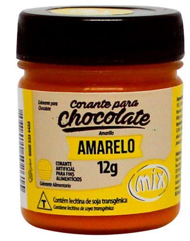Corante Gel para Chocolate Amarelo MIX 12g