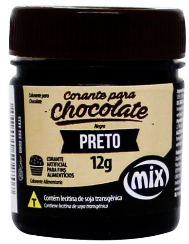 Corante Gel para Chocolate Preto MIX 12g