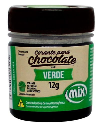 Corante Gel para Chocolate Verde MIX 12g