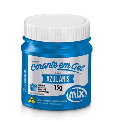 Corante Pasta Gel Azul Anis Mix 15g