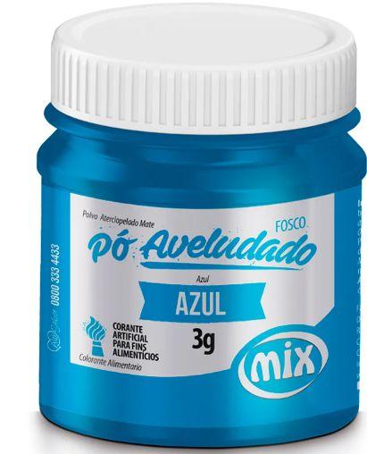 Pó Aveludado Azul Fosco Mix 3g