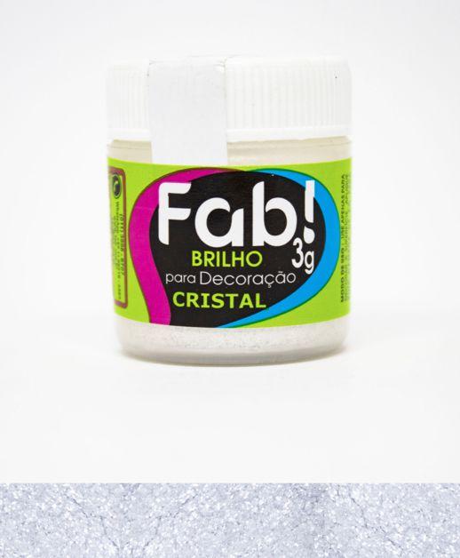 PÓ PARA DECORAÇÃO BRILHO CRISTAL 3g - FAB
