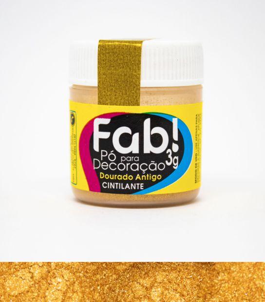 Pó para Decoração Dourado Antigo Fab 3g