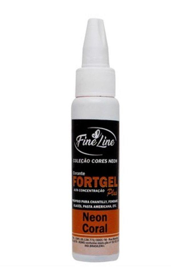 Corante Fortgel Neon Coral Fine Line 30g