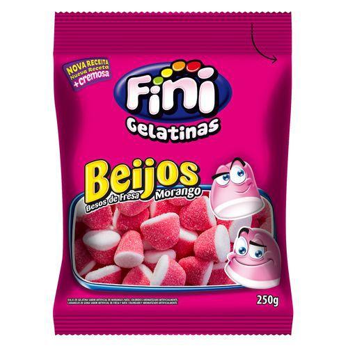 Bala de Gelatina Beijos de Morango FINI 250g