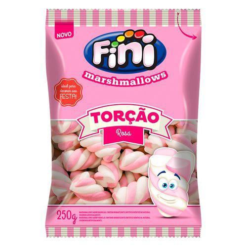 Marshmallow Torção Rosa FINI 250g