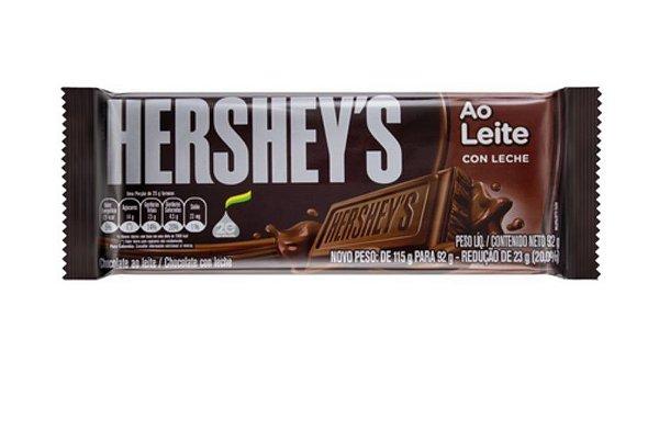 Tablete Chocolate Ao Leite Hershey's 92g