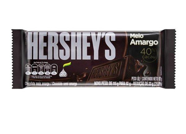 Tablete Chocolate Meio Amargo 92g