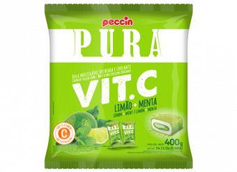 Bala Pura Vit.C Limão e Menta Peccin 400g