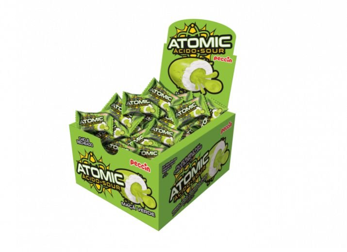 Chicle Atomic Maça Verde Peccin 140g