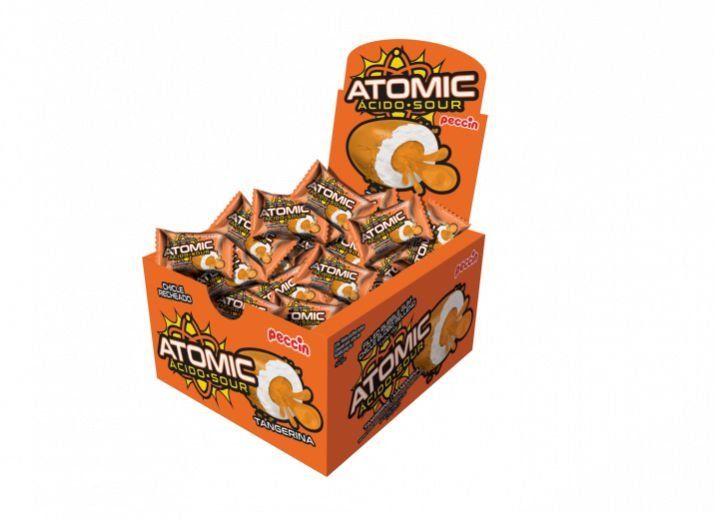 Chicle Atomic Tangerina Peccin 140g