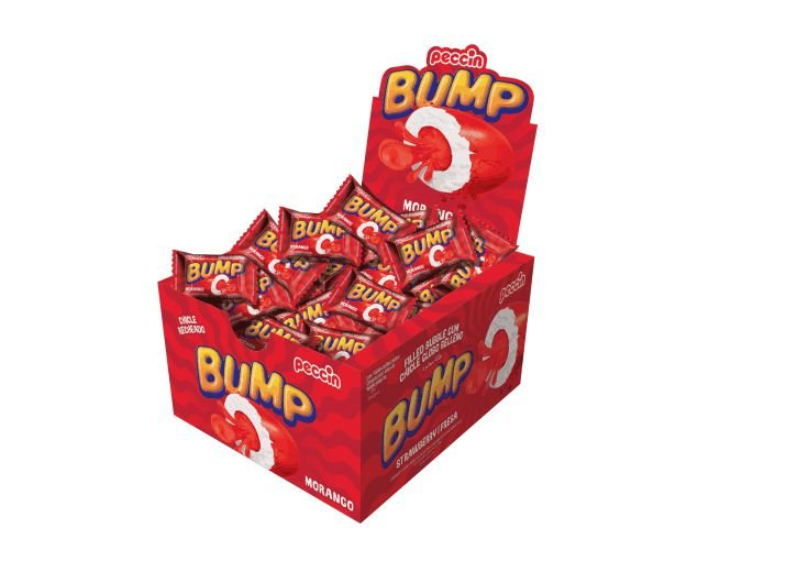 Chicle Bump Morango Peccin 140g
