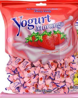 Bala Yogurte Morango Simonetto 500g
