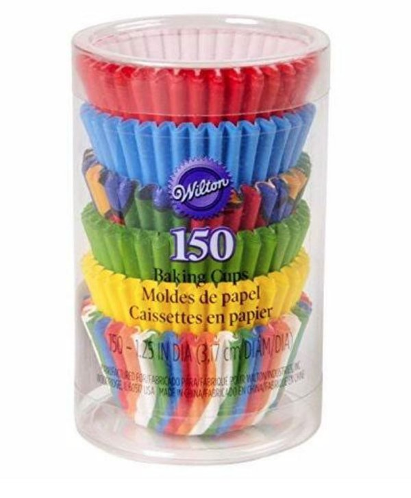 Forma de Papel Mini Muffins Coloridos Wilton 150unid