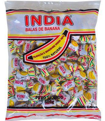 Bala India de Banana Zanatta 700g