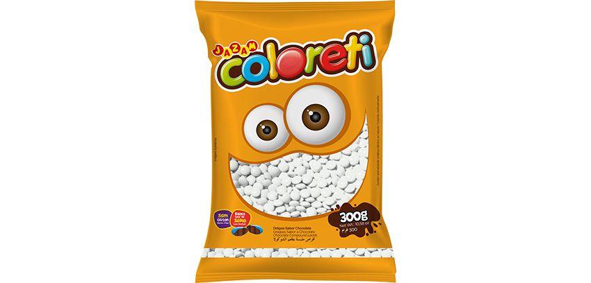 Pastilha Coloreti Mini Branca Jazam 300g