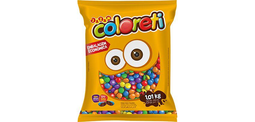 Pastilha Coloreti Mini Sortido Jazam 1,01kg